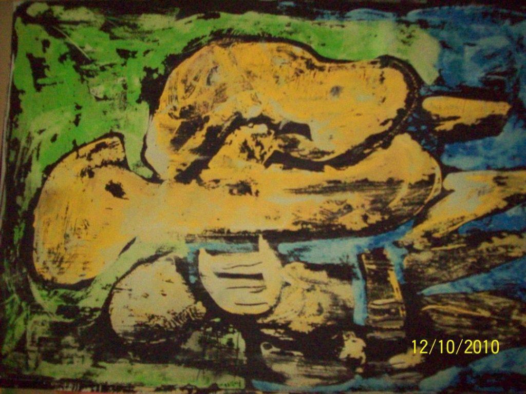Guache lavado monstro quadros online