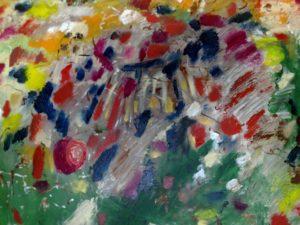 Pintura abstrata a óleo Dimensões : 1,20 x1,00 ms.