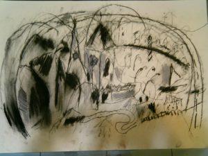 Desenho em Carvão e contè dimensão A2