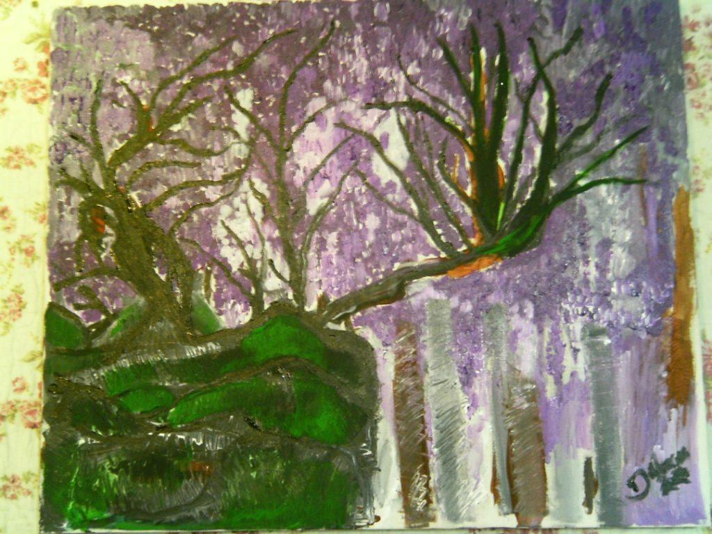 pintura sobre tela (paisagem)