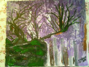 Pintura sobre tela paisagem