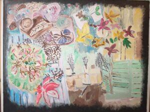 Pintura com tinta acrílica (Danielle Vargas)