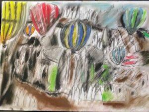 Desenho a carvão e pastel seco. (Danielle Vargas)